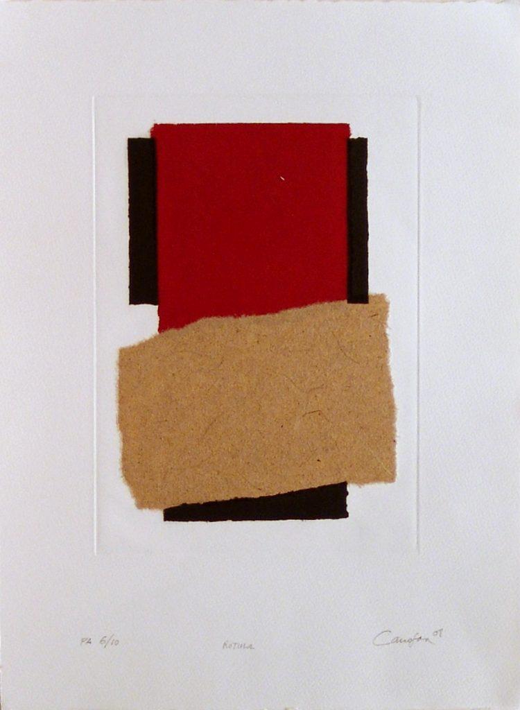 Canogar-Rotula-Grabado-Collage-46x33cm-6de10PA-2008 Galería Fernández-Braso obra gráfica