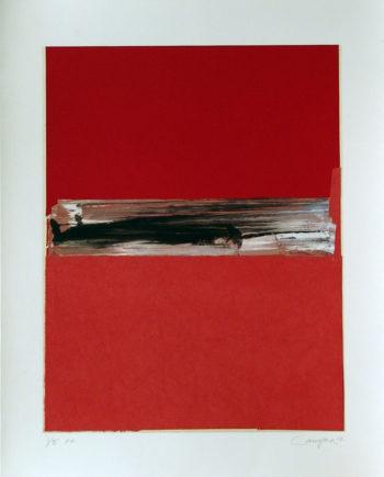 Obra grafica Canogar de la galeria fernandez braso madrid