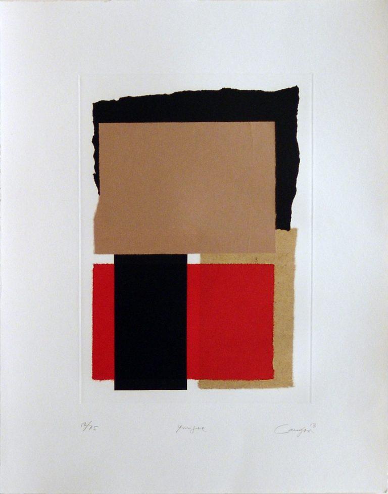 Canogar-Yunque-Grabado-Collage-57×45,5cm-12de75-2013 de la Galeria Fernandez-Braso
