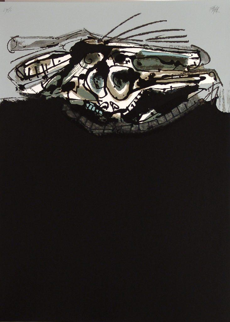 Saura Perro de Goya obra grafica galeria fernandez-braso