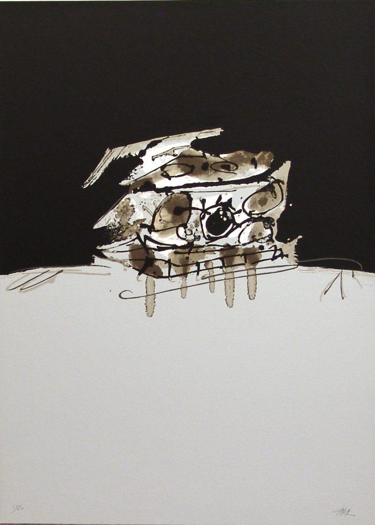 Saura Perro de Goya obra grafica fernandez-braso