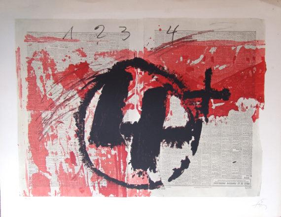 obra grafica original de tapies galeria fernandez braso
